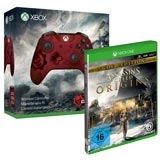 Xbox Wireless Controller - Gears of War 4 Crimson Omen Limited Edition + Assassin's Creed Origins [Xbox One]